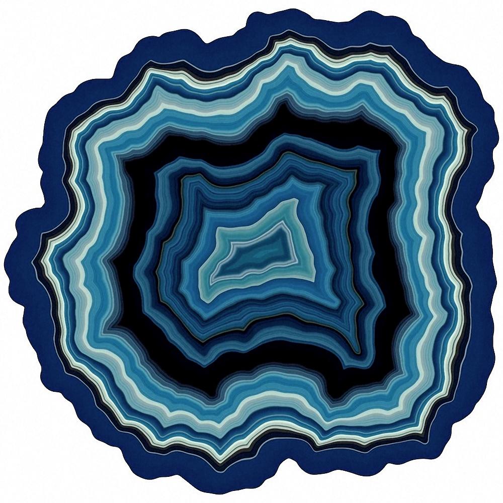Quebra-Cabeças Geodos de Ágata Únicos com 360 Peças de Madeira