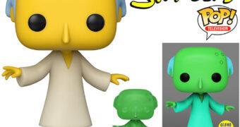 """Boneco Pop! Os Simpsons: Mr. Burns Fosforescente do Episódio """"The Springfield Files"""""""