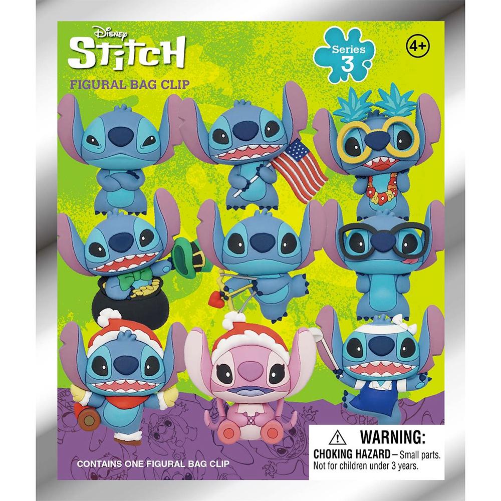 Chaveiros Lilo & Stitch Series 3 Disney 3D Figural Bag Clip