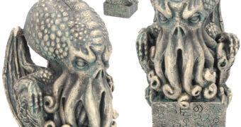 Estátua O Chamado de Cthulhu com 17 cm de Altura (H. P. Lovecraft)