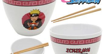 Tigela Naruto Shippuden Ramen Ichiraku com Hashis