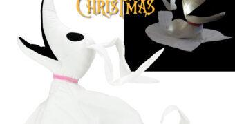 Cão Fantasma Zero de Pelúcia com Iluminação Fantasmagórica (Kidrobot)