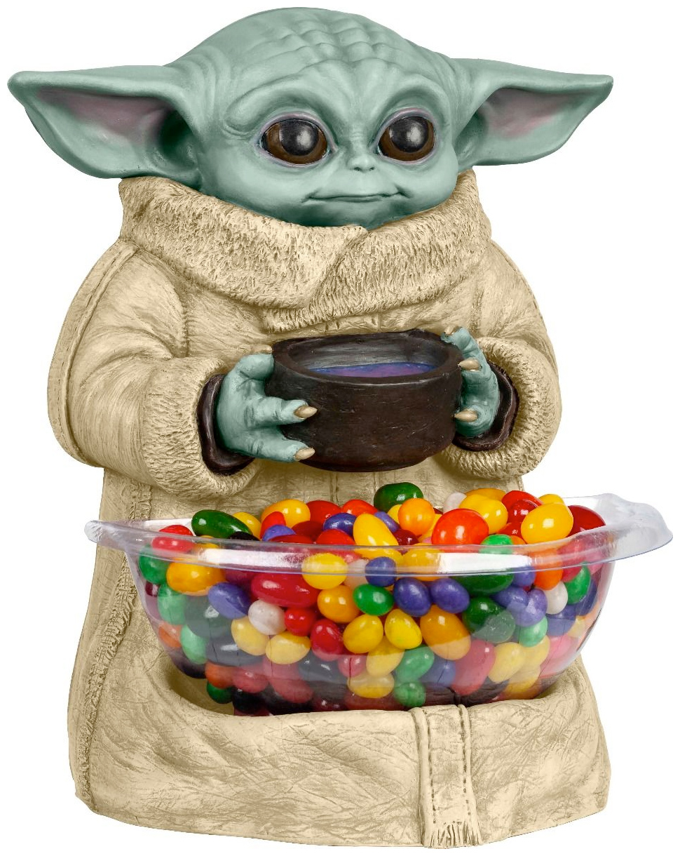 Porta Balas Baby Yoda The Child Star Wars The Mandalorian Mini Candy Bowl Holder