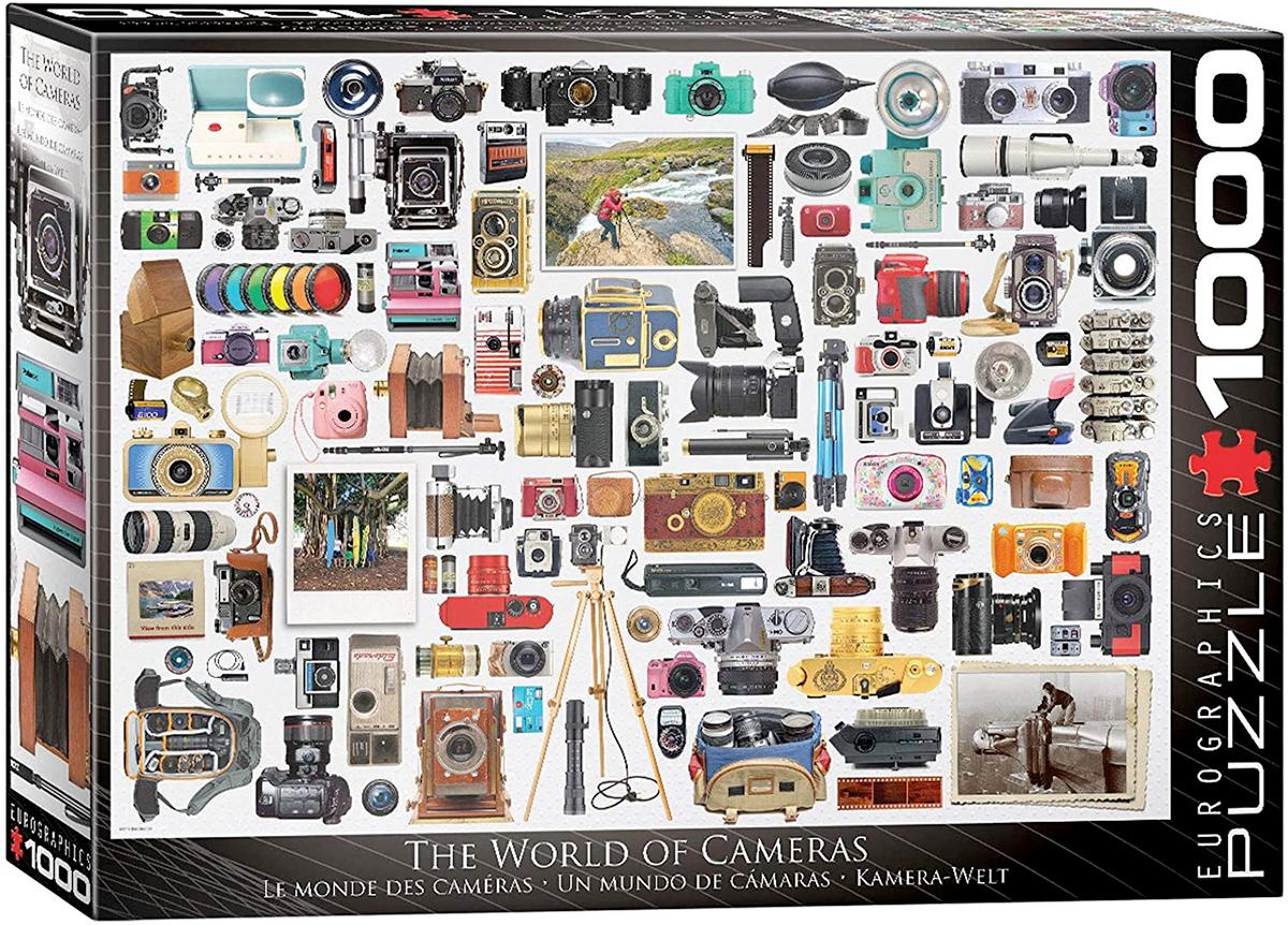 Quebra-Cabeça Um Mundo de Câmeras Fotográficas com 1.000 Peças (EuroGraphics)