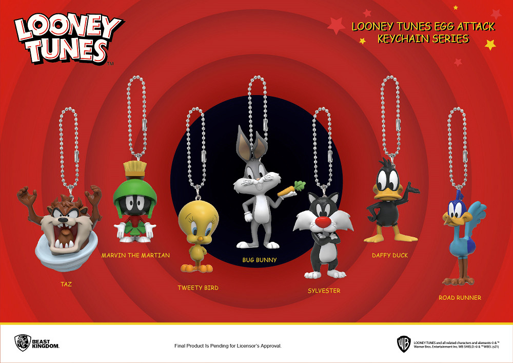 Looney Tunes Egg Attack Keychain Series
