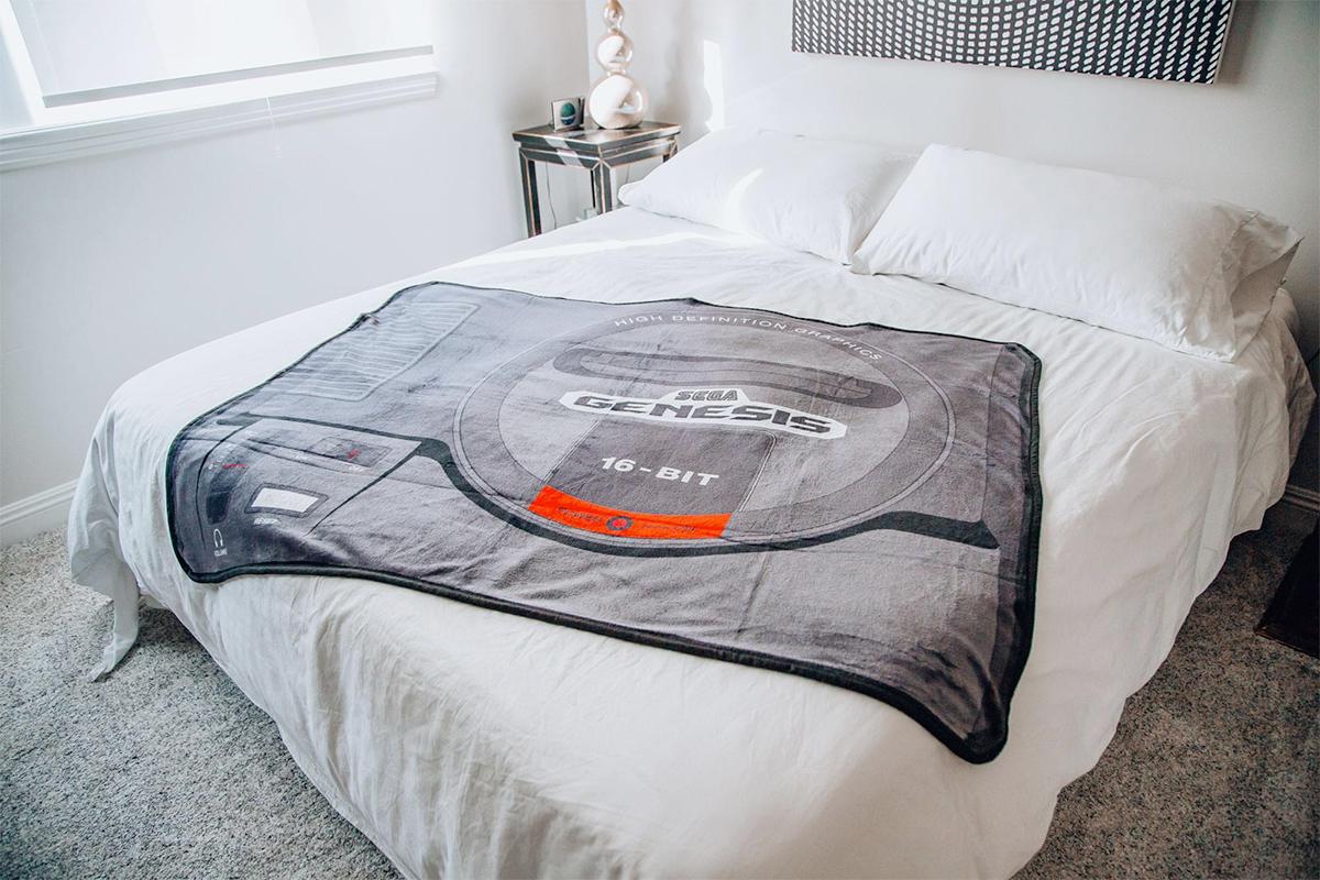 Cobertor de Lance Mega Drive Sega Genesis Fleece Throw Blanket
