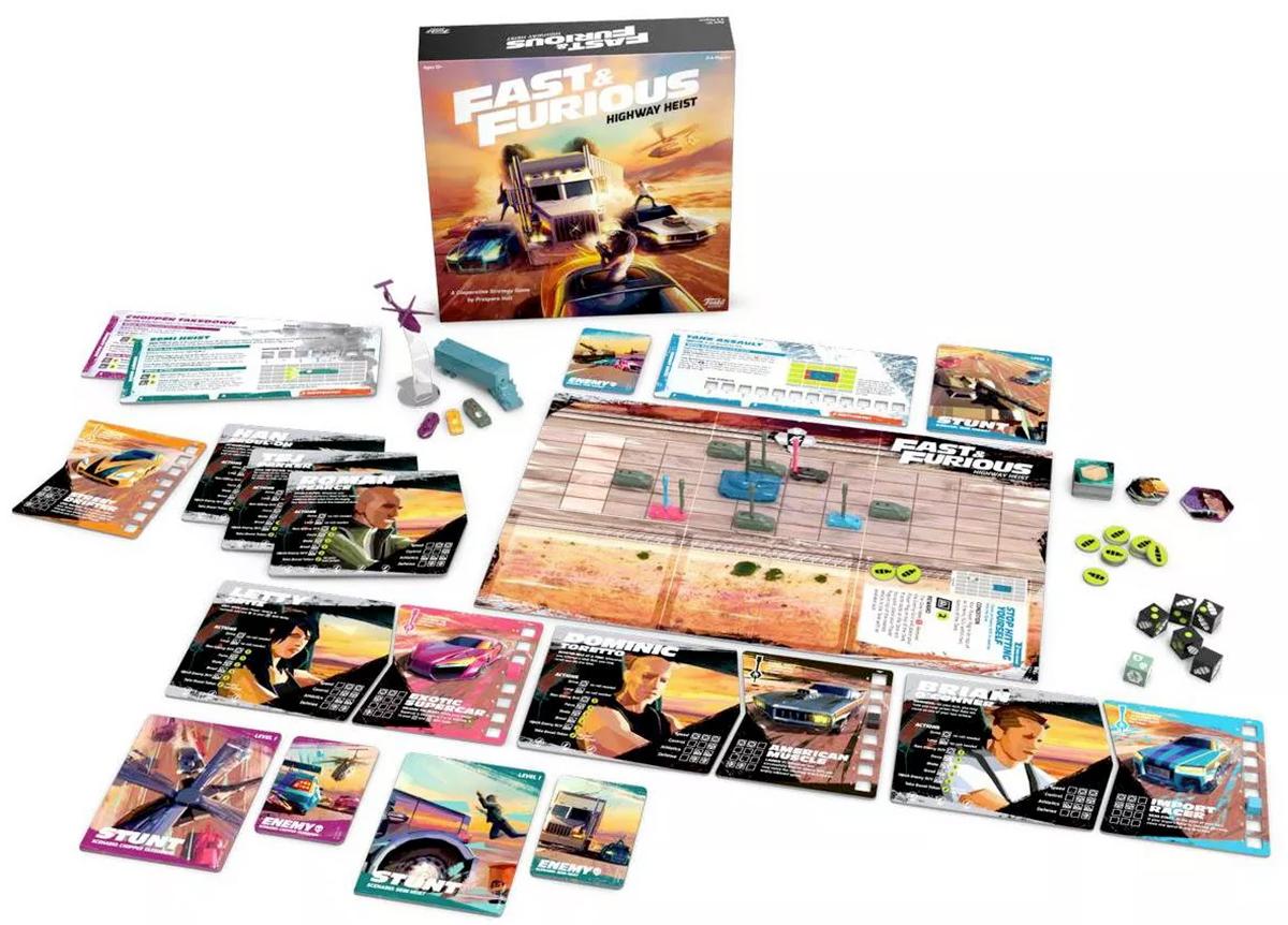 Jogo de Tabuleiro Velozes e Furiosos Fast and Furious Highway Heist Game