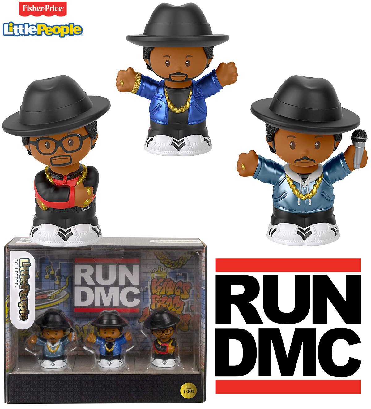 Bonecos Run-D.M.C. Little People Collector (Fisher-Price)