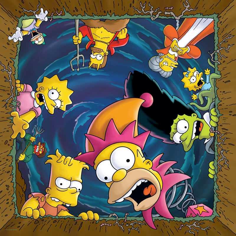 """Quebra Cabeça Os Simpsons Treehouse of Horror """"Feliz Assombração"""" com 1.000 Peças"""