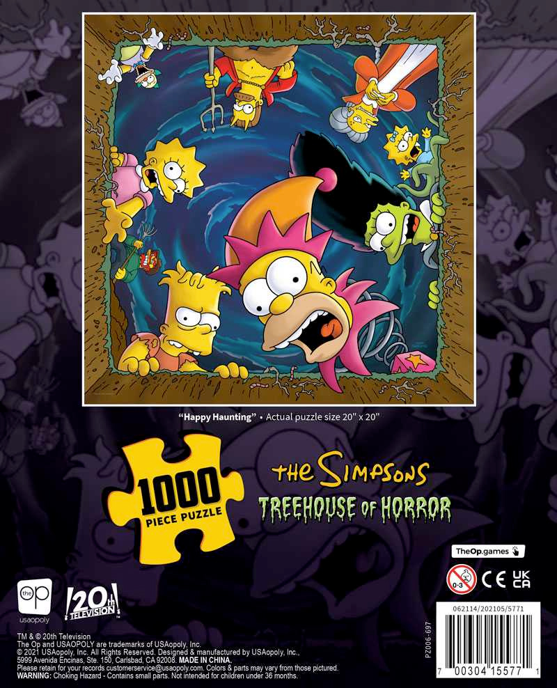 """The Simpsons Treehouse of Horror """"Happy Haunting"""" 1000 Piece Puzzle"""