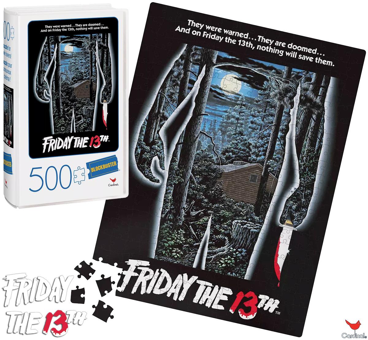 Quebra-Cabeça Sexta-Feira 13 Pôster Original em Caixa VHS da Blockbuster