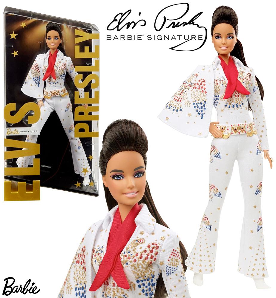 Boneca Elvis Presley Barbie Signature Gold Label