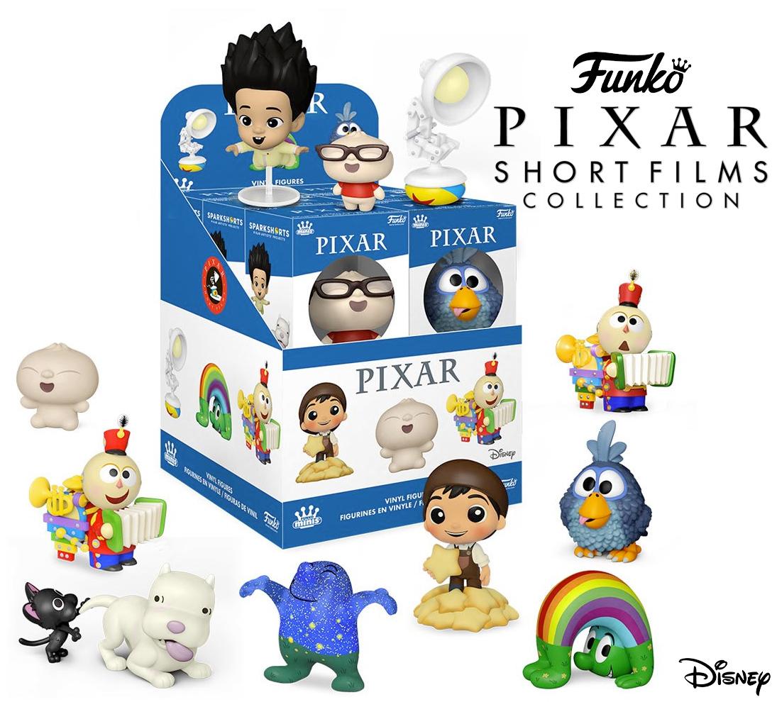 Curta-Metragens da Pixar - Mini-Figuras Funko Mini Vinyl