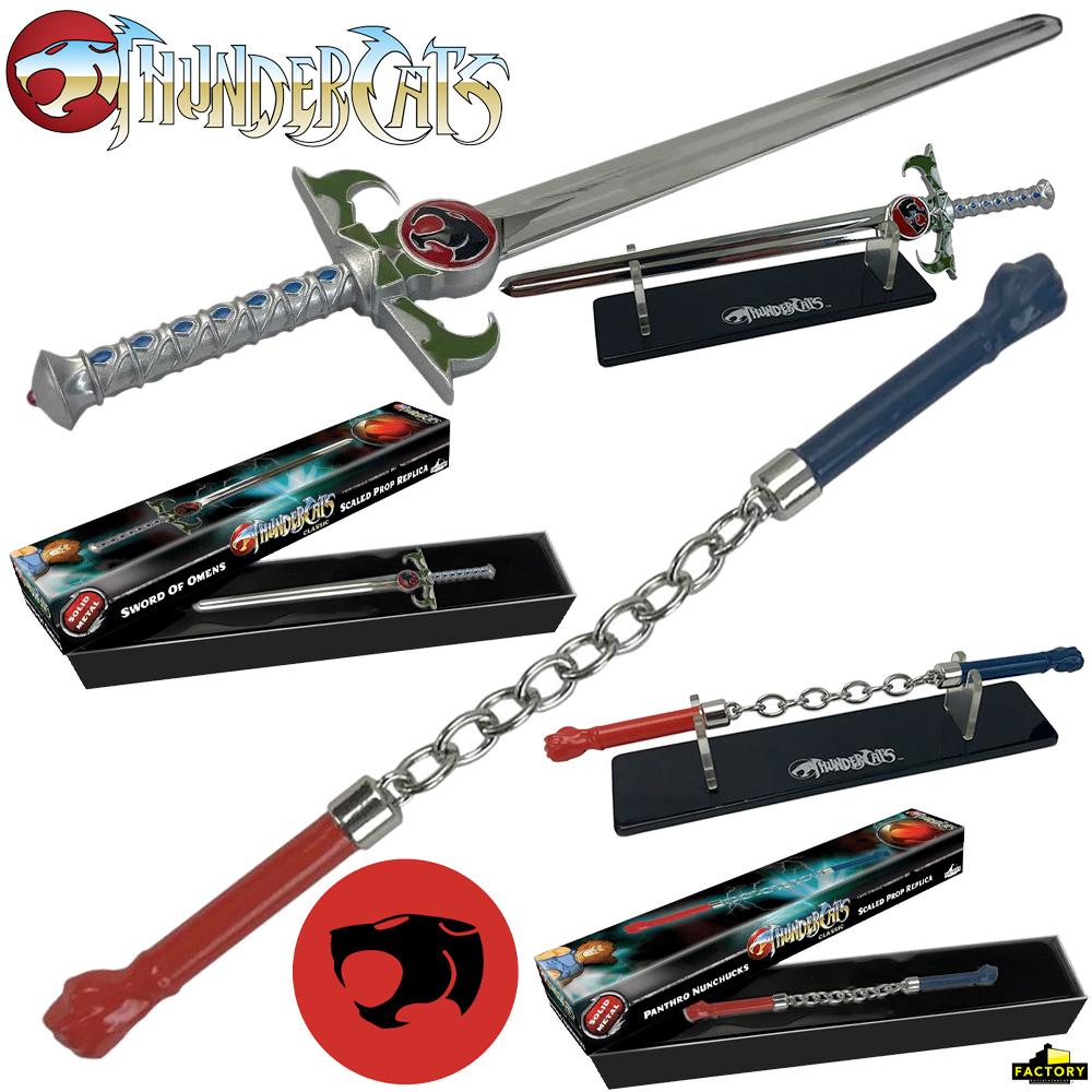Miniaturas ThunderCats Props: Espada dos Omens de Lion-O e Nunchuks do Panthro