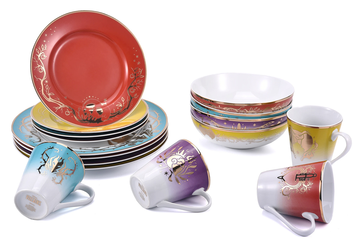 Jogo de Pratos Disney Villains 16-Piece Dinnerware Set