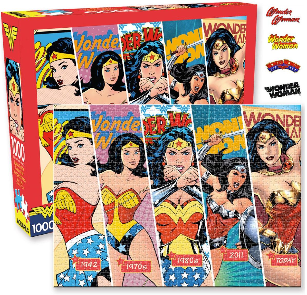 Quebra-Cabeça Wonder Woman Timeline com 5 Eras da Mulher Maravilha e 1.000 Peças