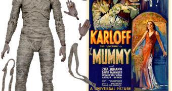 A Múmia (Boris Karloff) do Clássico Filme de 1932 – Action Figure em Cores Neca Ultimate 7″