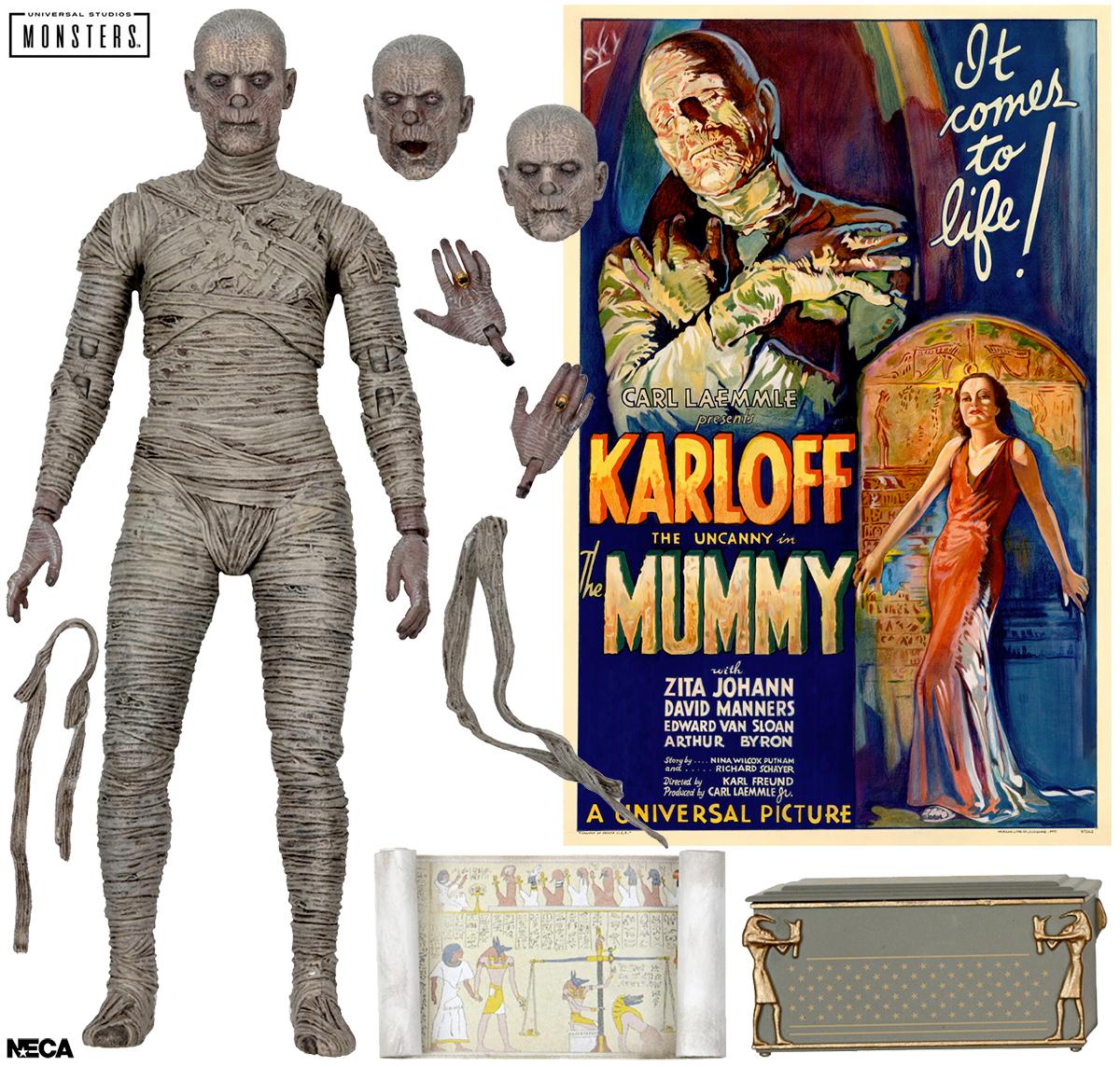 A Múmia (Boris Karloff) do Clássico Filme de 1932 - Action Figure em Cores Neca Ultimate 7″