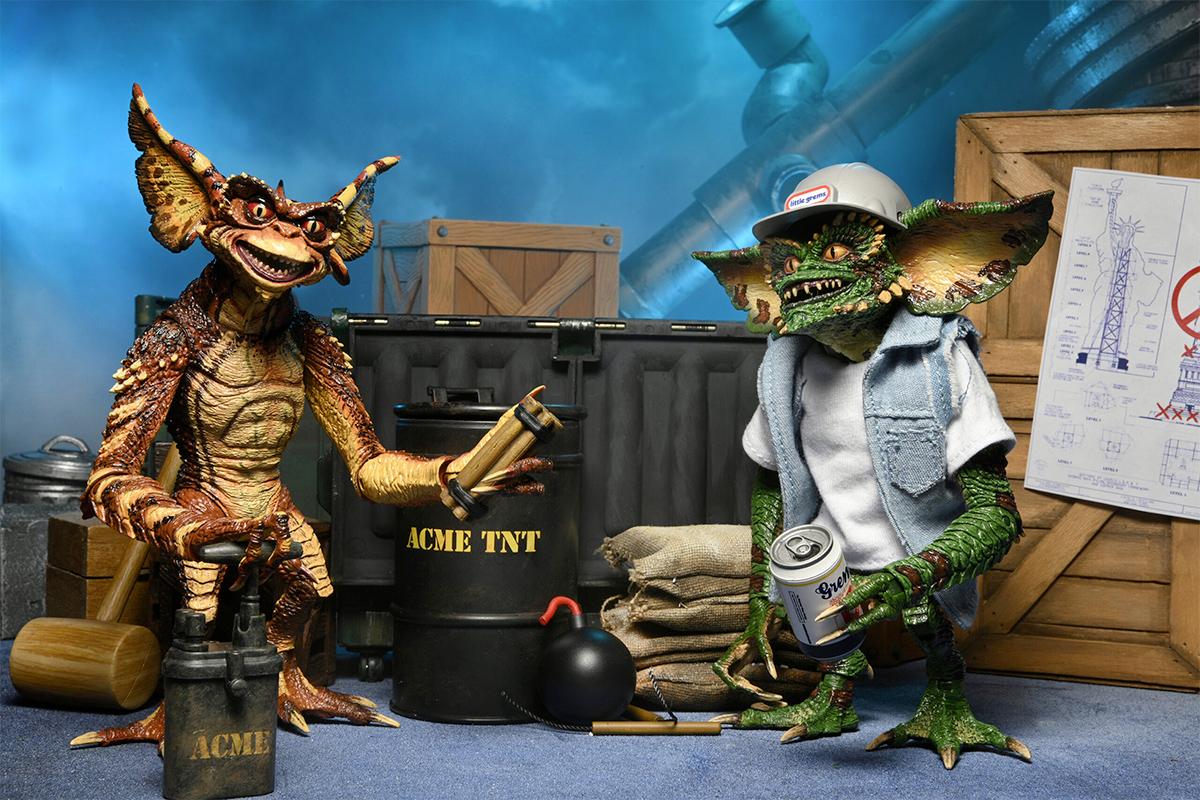 """Equipe de Demolição Gremlins - Action Figures Neca 7"""" Gremlins 2 A Nova Turma"""