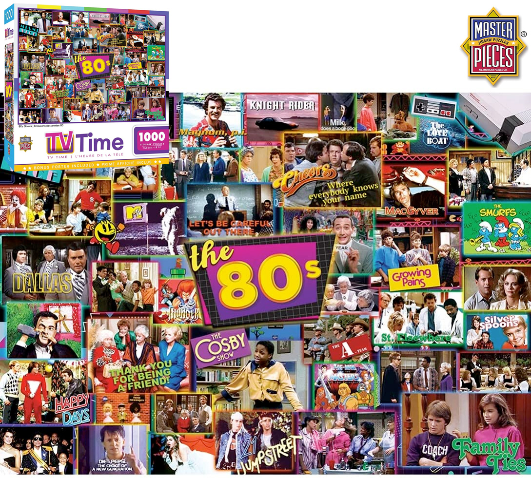 Quebra-Cabeça Séries de Televisão dos Anos 80 com 1.000 Peças