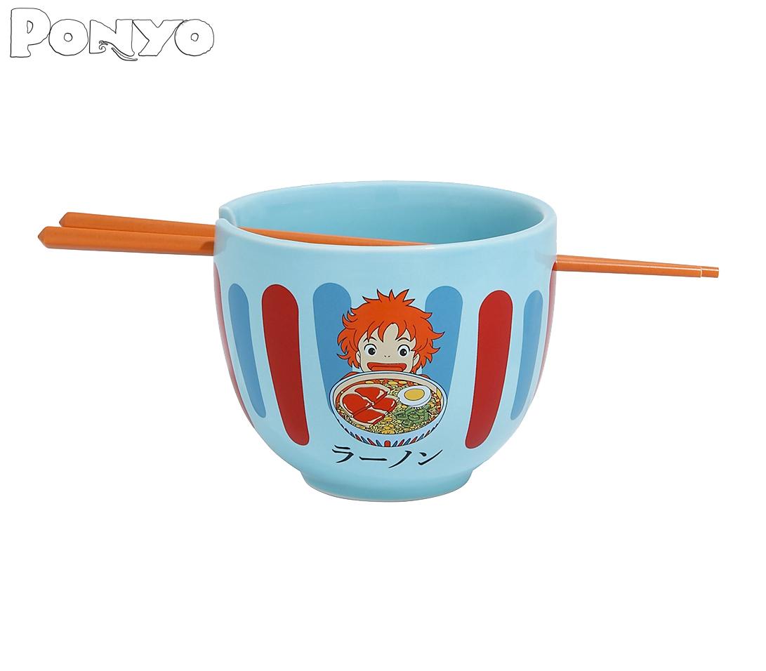 Tigelas Her Universe Studio Ghibli Ramen Bowl with Chopsticks