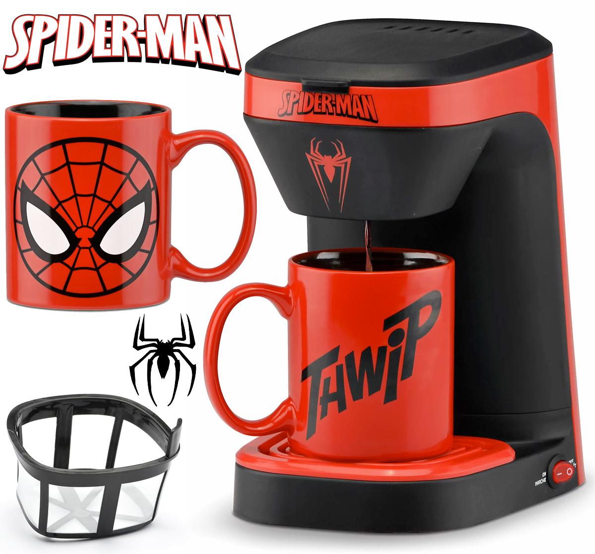 Cafeteira Individual Homem-Aranha com Caneca