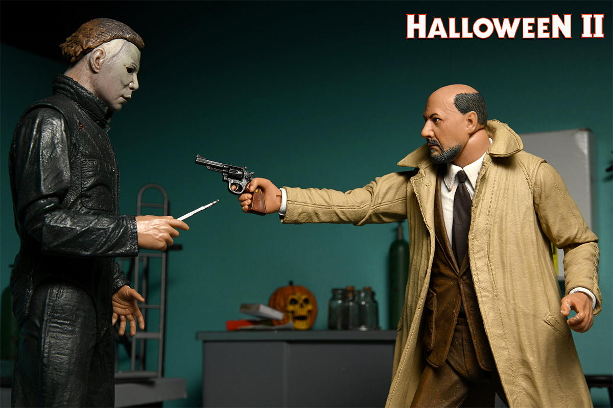Michael Myers e Dr. Loomis 40 Anos de Halloween 2 - Action Figures 7″ Neca Ultimate class=