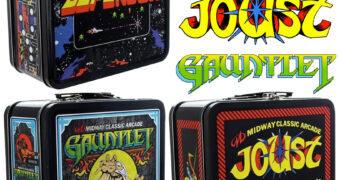Lancheiras Midway Classic Arcade Videogames: Defender, Gauntlet, & Joust