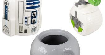 Potes de Cookies Star Wars: R2-D2, D-O e Estrela da Morte
