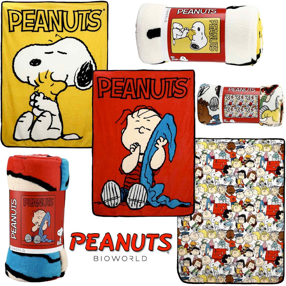 Cobertores de Lance Peanuts: Snoopy, Linus e a Turma Toda