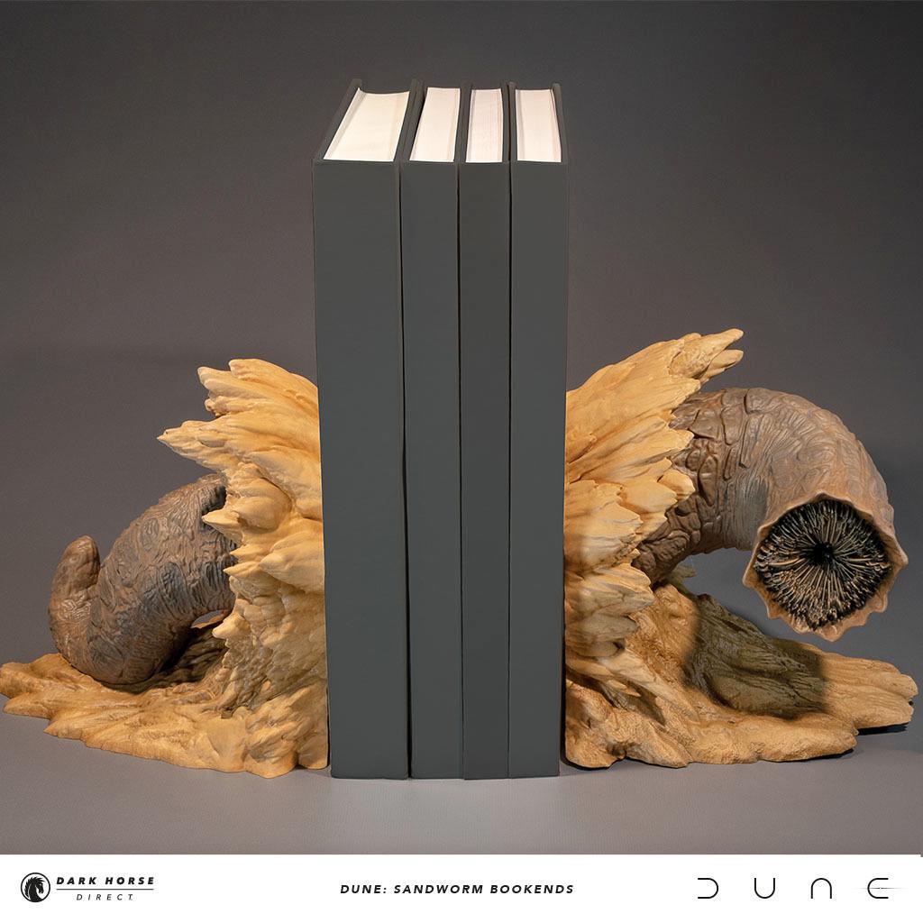 Apoios de Livros Sandworm do Filme Duna de Denis Villeneuve