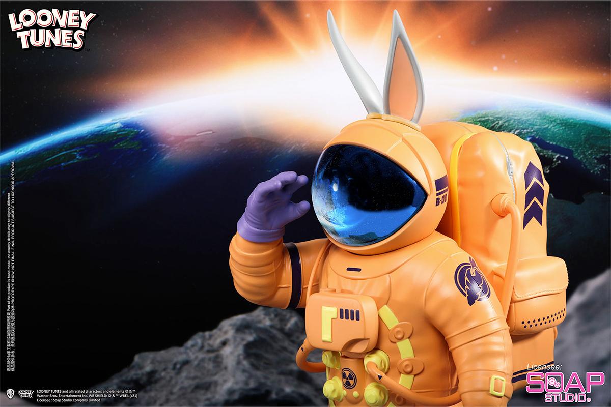 Estátua Pernalonga Astronauta do Soap Studio (Looney Tunes)
