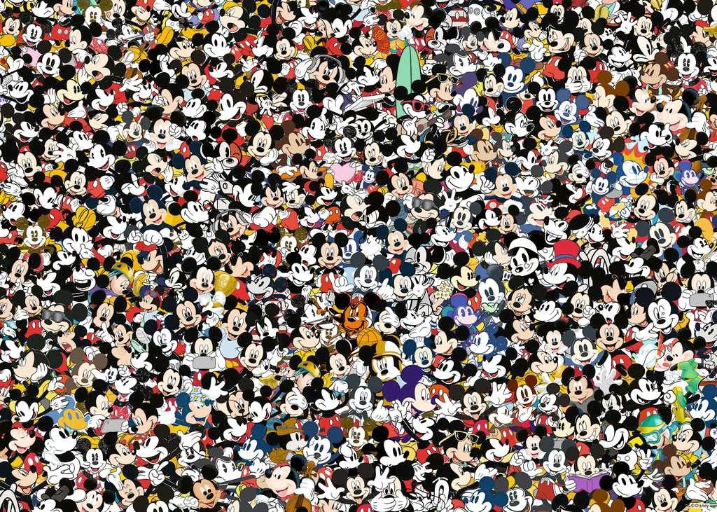 Quebra-Cabeça Impossível Mickey Mouse Ravensburger Challenge com 1.000 Peças