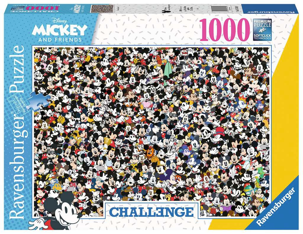 Mickey Challenge 1000 Piece Jigsaw Puzzle