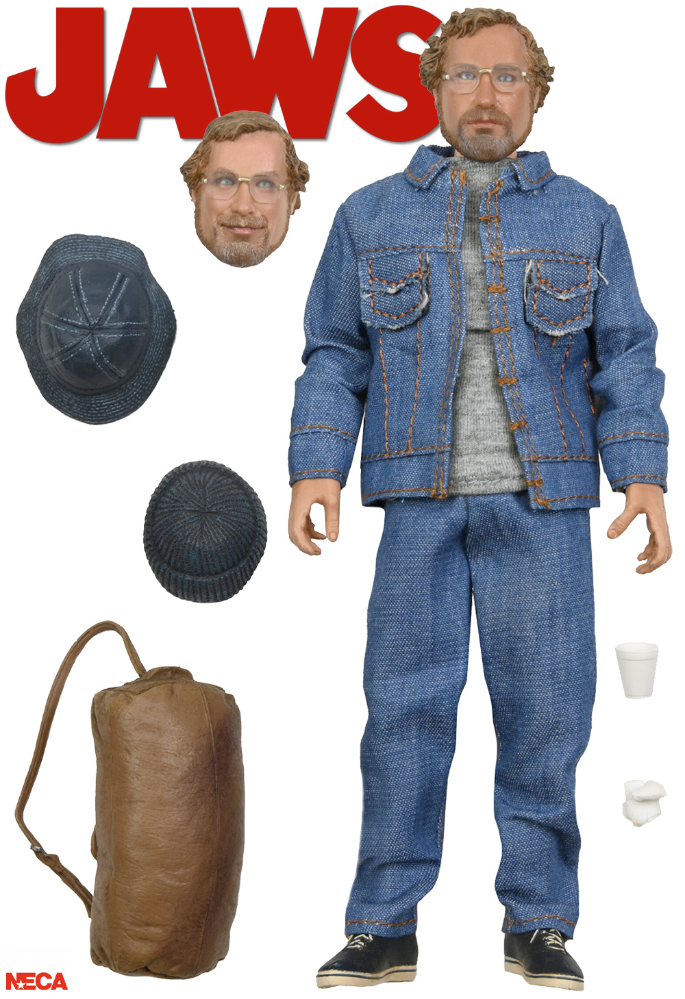 Action Figure Matt Hooper Amity Arrival Jaws 8-Inch Scale Clothed Neca