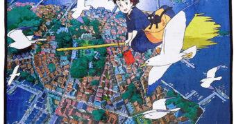 Cobertor de Lance O Serviço de Entregas da Kiki de Hayao Miyazaki