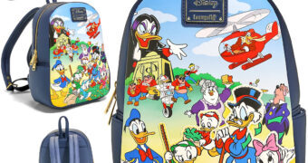 Mochila DuckTales: Os Caçadores de Aventuras com Tio Patinhas, Pato Donald, Maga Patológica e Outros (Loungefly Disney)