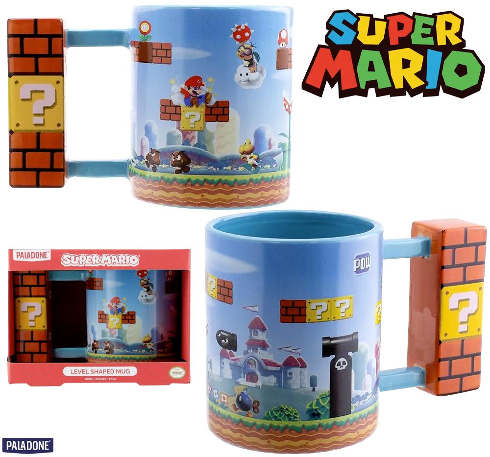 Caneca Super Mario Level com Alça de Blocos