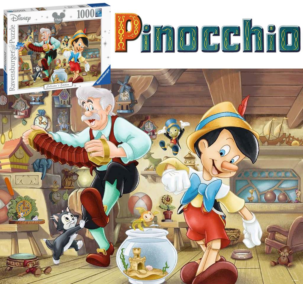 Quebra-Cabeça Pinóquio na Oficina de Brinquedos do Geppetto com 1.000 Peças