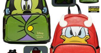 Mini-Mochilas Disney Halloween: Mickey Frankenstein e Pato Donald Diabo