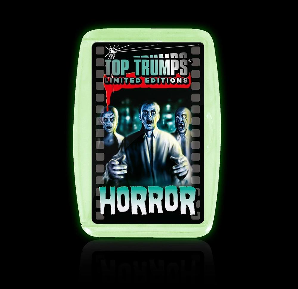Jogo de Cartas Super Trunfo Horror Top Trumps Glow in the Dark Case