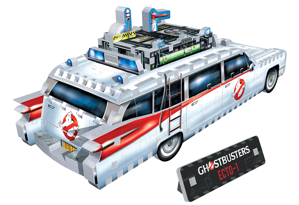 Quebra-Cabeça 3D Ectomobile Ecto-1 dos Caça Fantasmas (Ghostbusters)