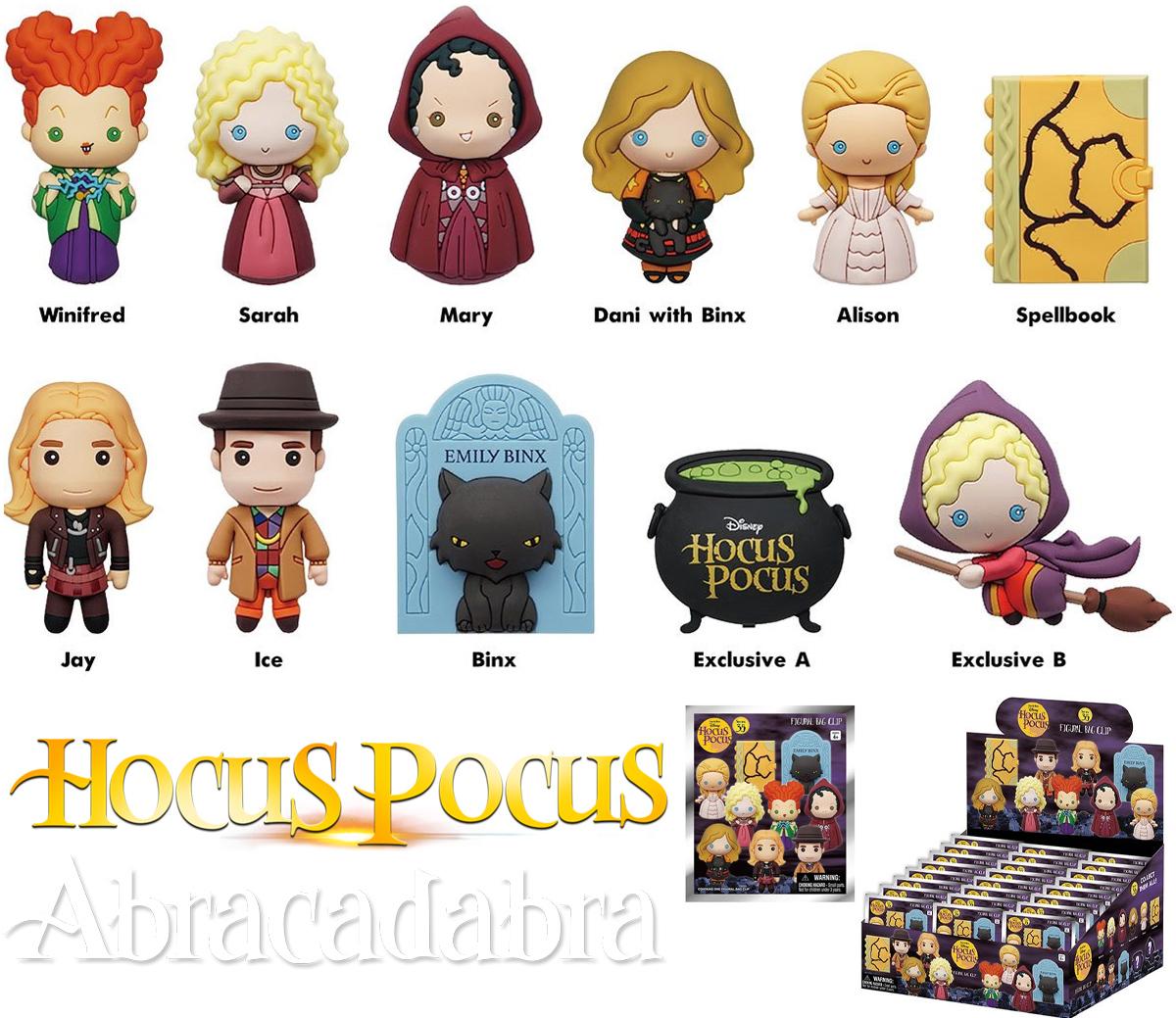 Chaveiros Abracadabra (Hocus Pocus) Disney 3D Figural Bag Clip (Blind-Bag)