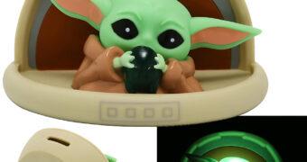 Cofre e Luz Noturna Baby Yoda Star Wars: The Mandalorian