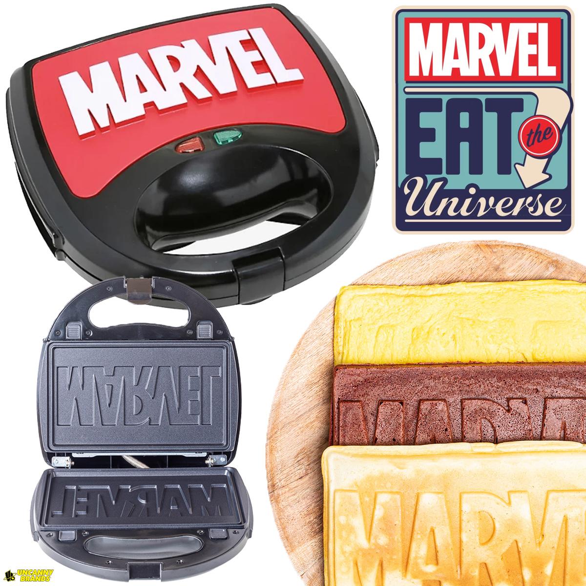 Marvel Eat the Universe 3-em-1 para Fazer Waffles, Omeletes e Bolos na Forma do Logo Marvel