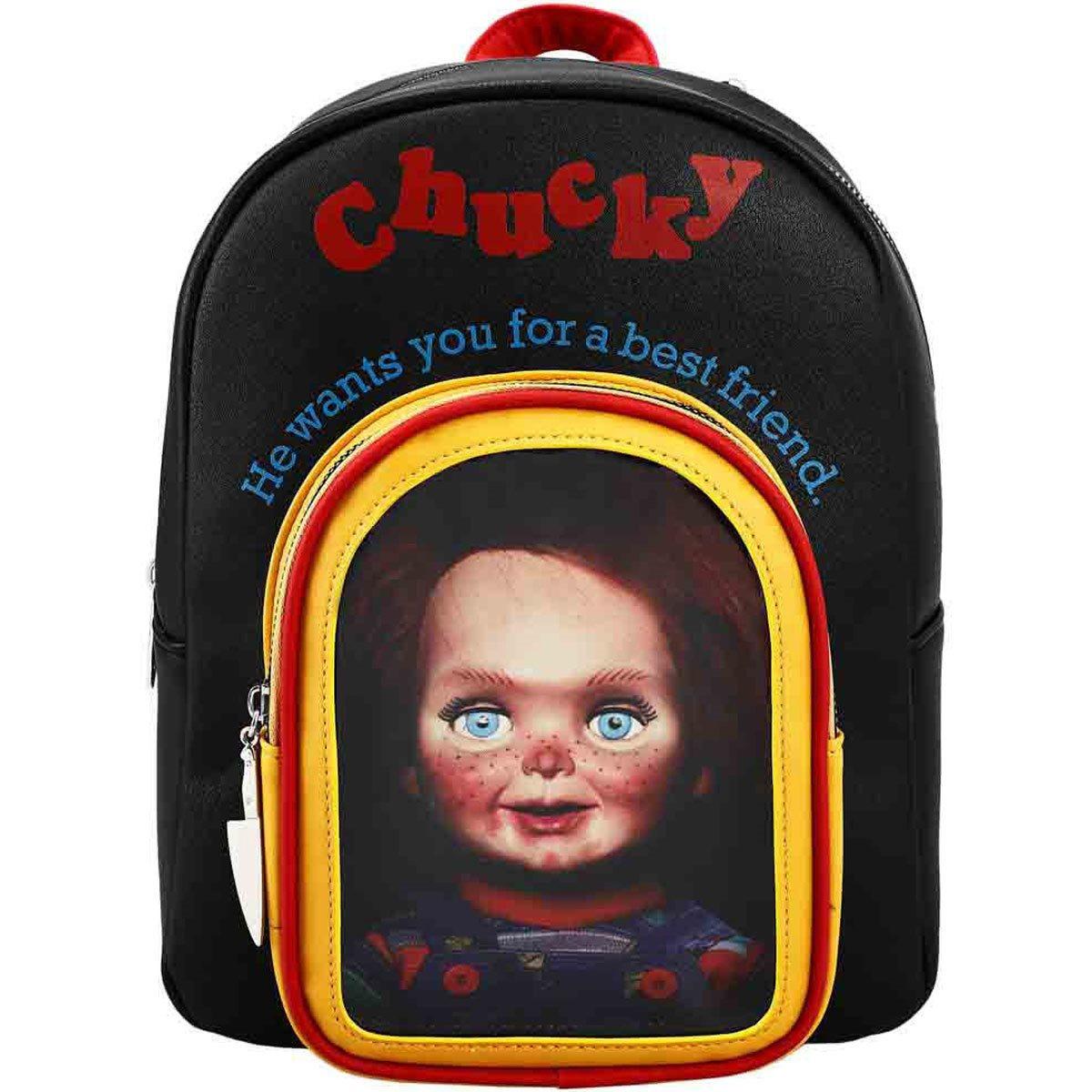 Mini-Mochila Chuky Toy Box de Couro Sintético (Brinquedo Assassino)