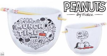 "Tigela Snoopy Peanuts ""Munch Time"" com Hashis"