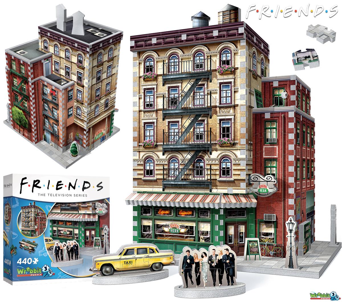 Quebra-Cabeça 3D Friends com o Prédio do Café Central Perk em Nova York