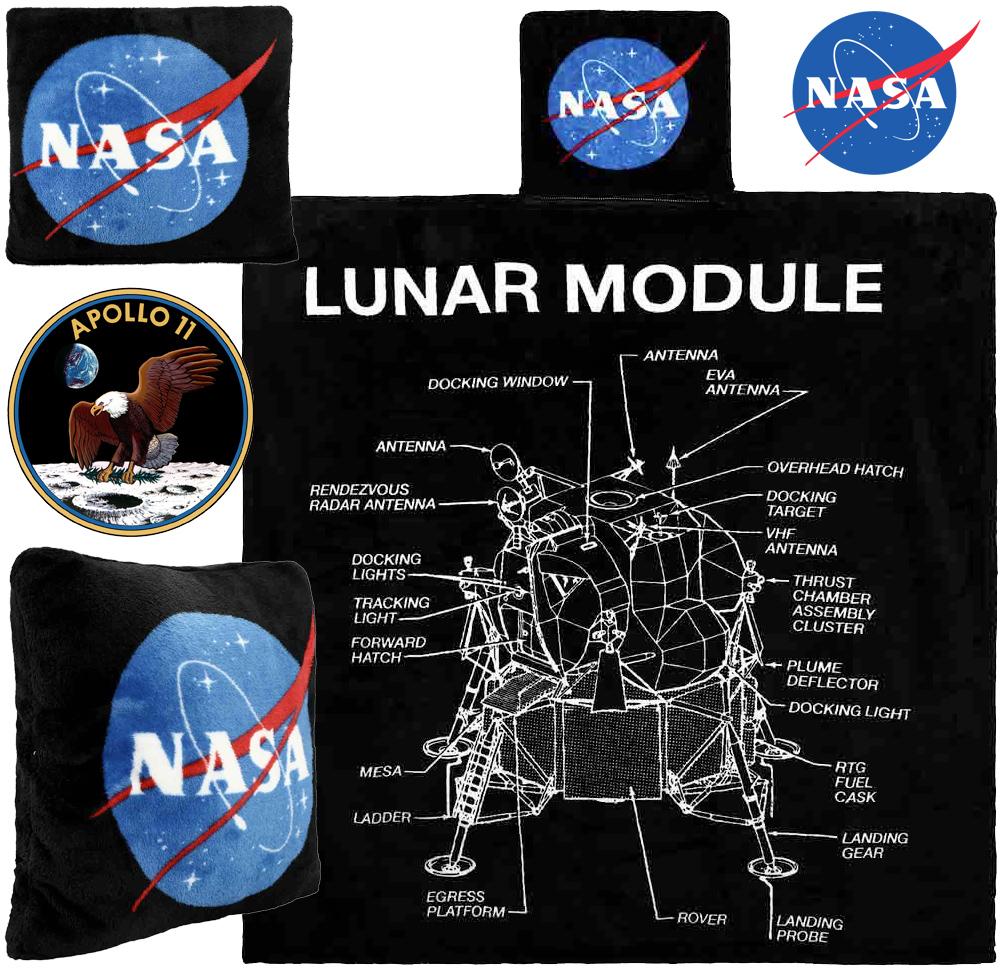 Cobertor de Lance NASA com Diagrama do Módulo Lunar Eagle