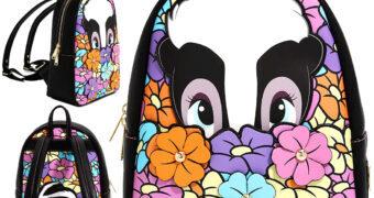 Mini-Mochila Bambi: Gambá Flor num Campo de Flores (Disney)